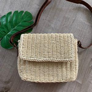 Handbags - NEW WOVEN CROSSOVER BAG / STRAW PURSE